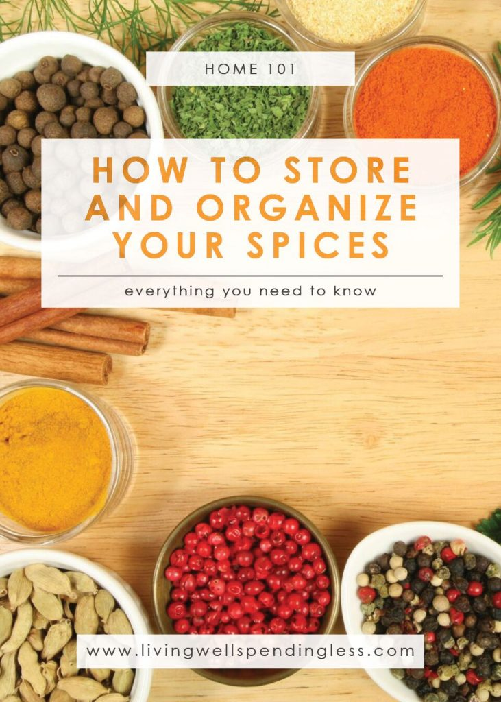 Store & Organize Your Spices   Cleaning & Organizing   DIY Spice Drawer   Spice Rack