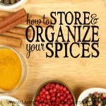 How to Store and Organize your Spices Square