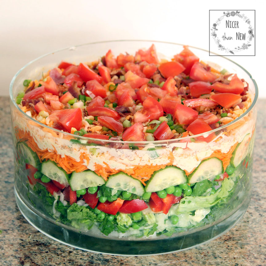 This classic layered salad is retro and tasty.