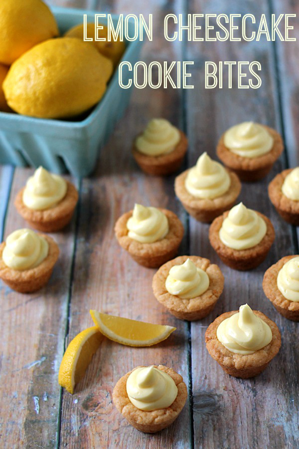 These lemon cheesecake cookie bites are refreshing and sweet.