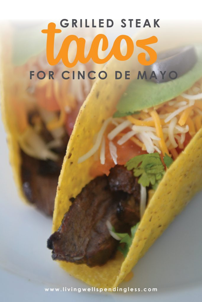 Love Mexican? These festive steak tacos come together in just minutes, and can be frozen ahead, then thrown on the grill for an effortless home-cooked meal that makes any night a fiesta!