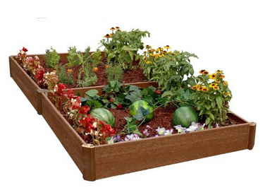 Raised beds are great for vegetable gardens.