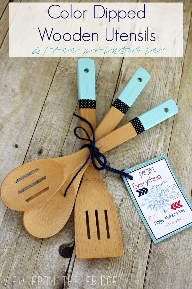 These color dipper wooden utensils are adorable for your home.