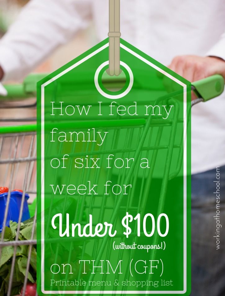 Here's how to feed a family of six for one week under one hundred dollars.