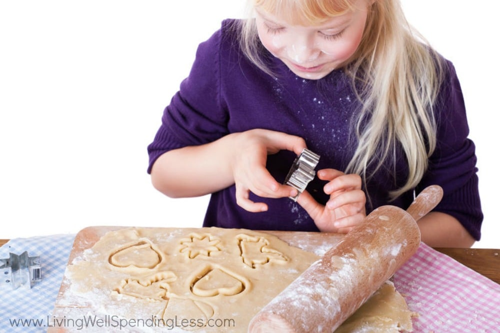 Activities like baking can help kids gain independence. Let the roll out the dough and cut out cookies all by themselves!
