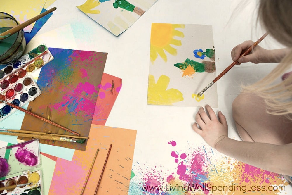Painting and drawing: kids need plenty of outlets for creativity and art!