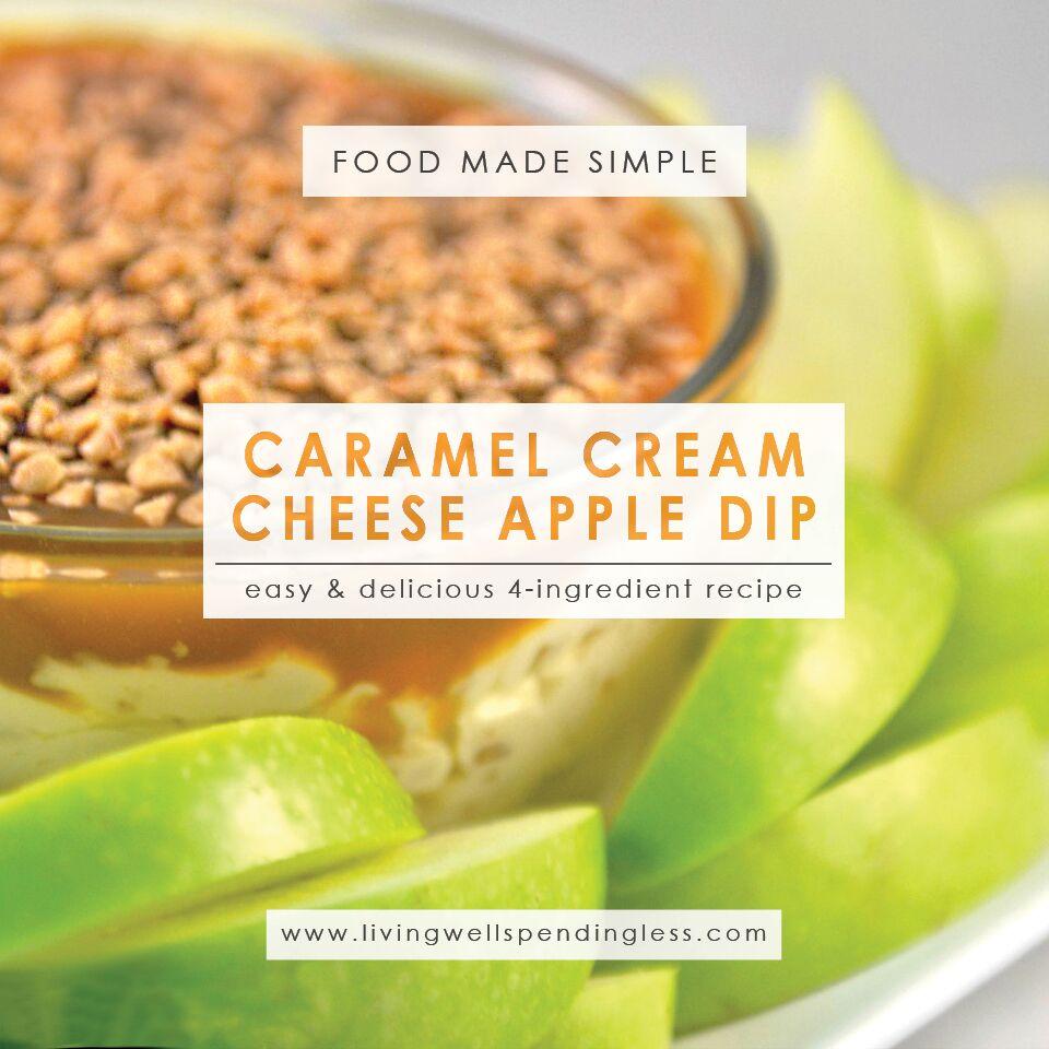 Easy Caramel Cream Cheese Apple Dip Recipe | Caramel Apple Dip | Caramel Apple Cream Cheese | Easy Caramel Dip | Dip Recipes
