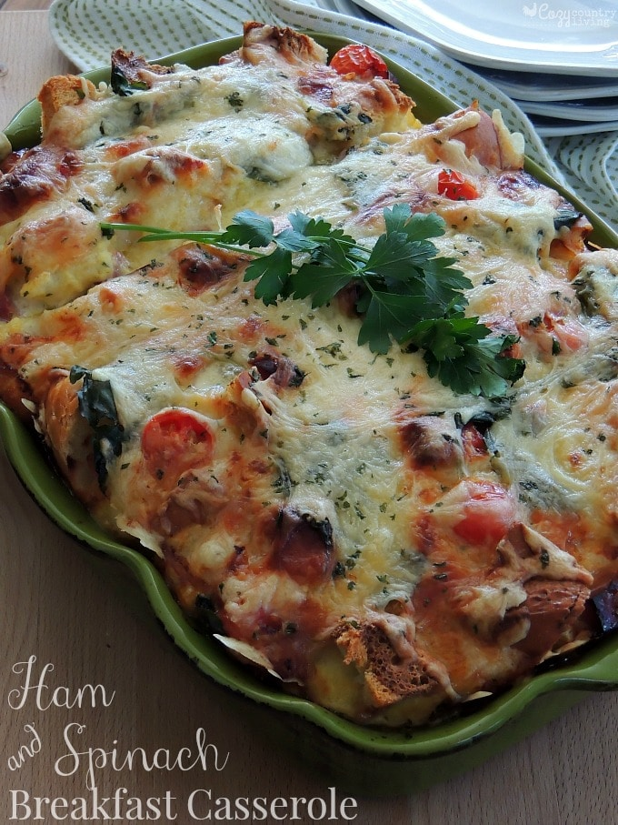 Cheesy-Ham-Spinach-Overnight-Breakfast-Casserole-