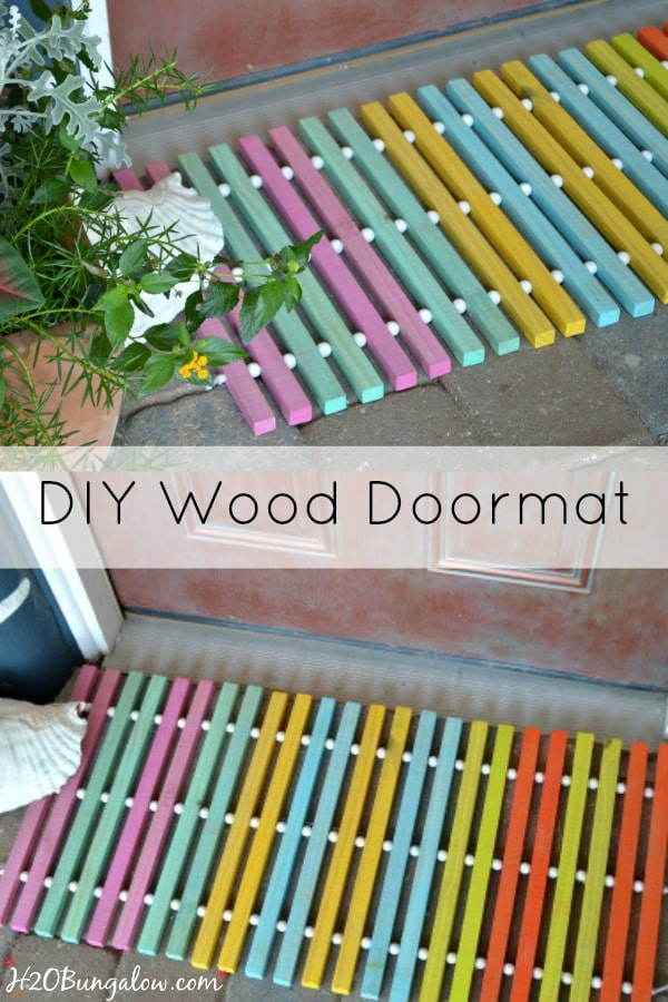 DIY-Summer-wood-slat-doormat-tutorial-with-a-drill-by-H2OBungalow