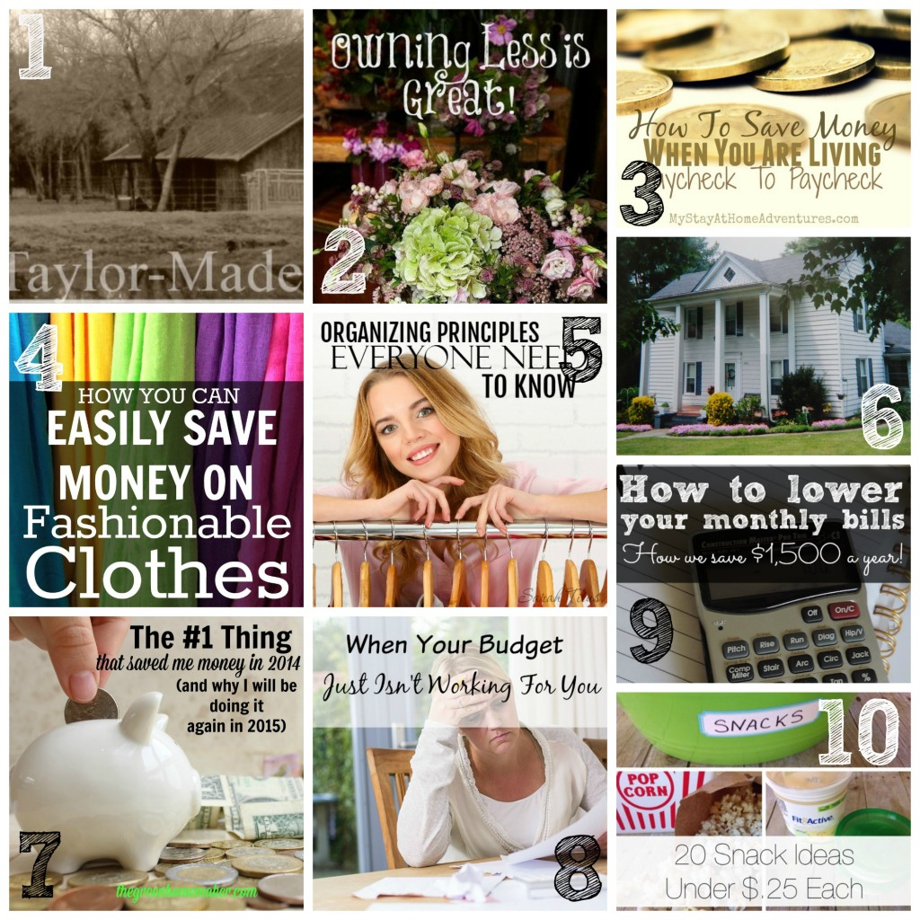Check out these most popular posts full of money saving and organizing tips.