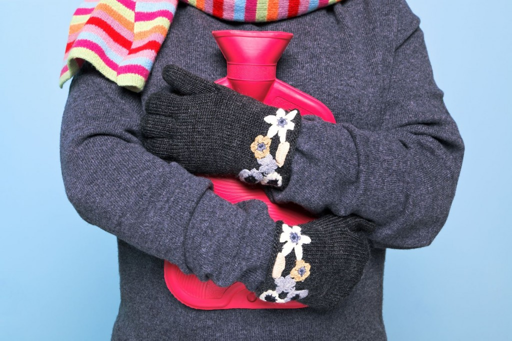 Staying bundled up during the winter will help you not get sick.