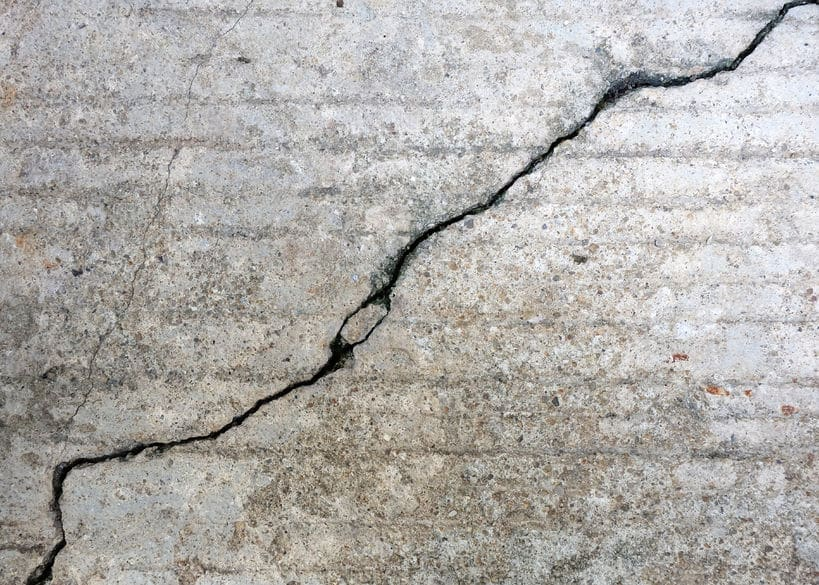 Do you have cracks in your garage floor? Concrete cracks are easy to repair.