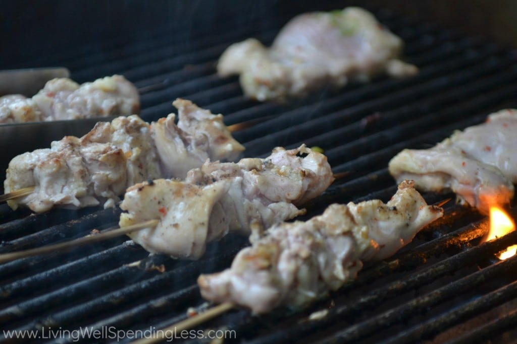 grill chicken for 5-7 minutes per side.