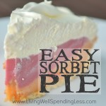 Easy Sorbet Pie Square 3