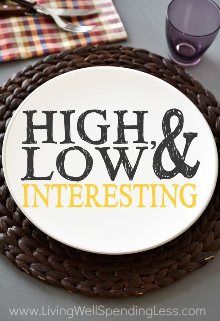 High Low & Interesting Vertical