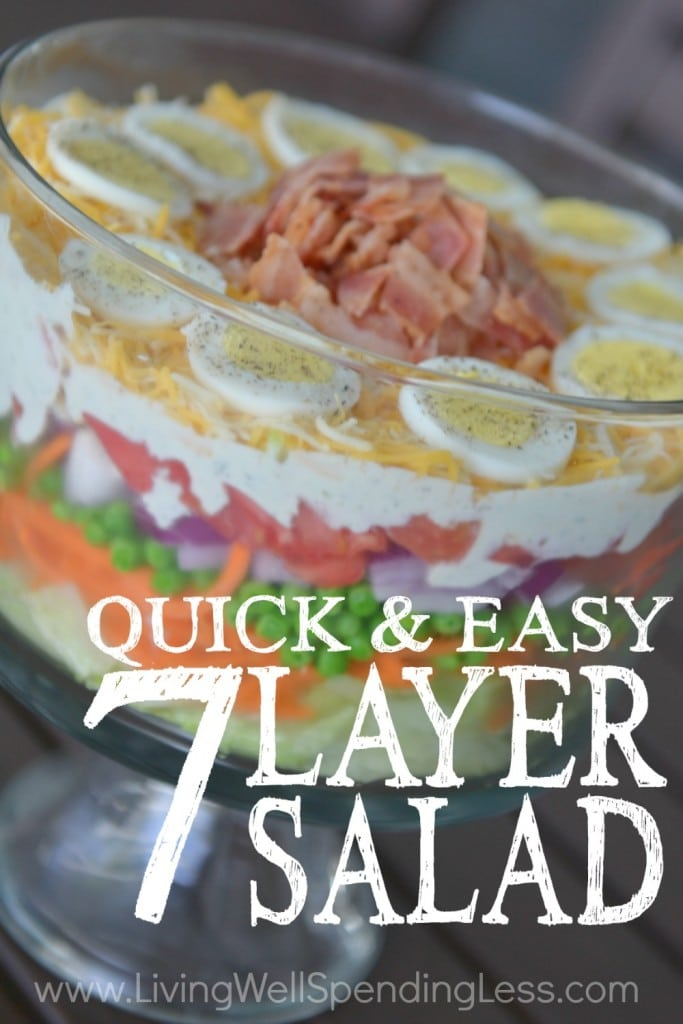 Quick & Easy 7-Layer Salad Recipe | How to Make a 7-Layer Salad