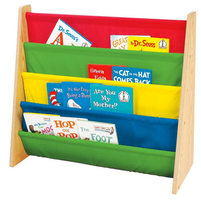 Use a cute library organizer like this shelf to keep track of your kids' books.