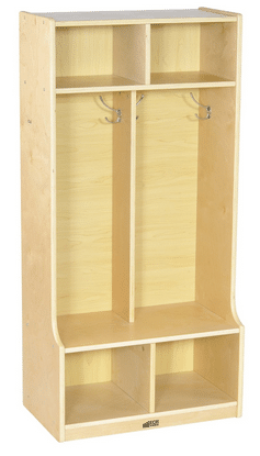 Cubbies aren't just for school. You can use these shelves to help organize your mudroom and other areas.