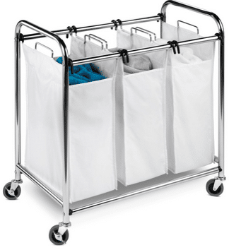 A triple laundry sorter will help make easy work of keeping your wash separated.