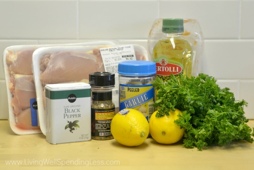 Simple Summer Chicken Sandwich ingredients