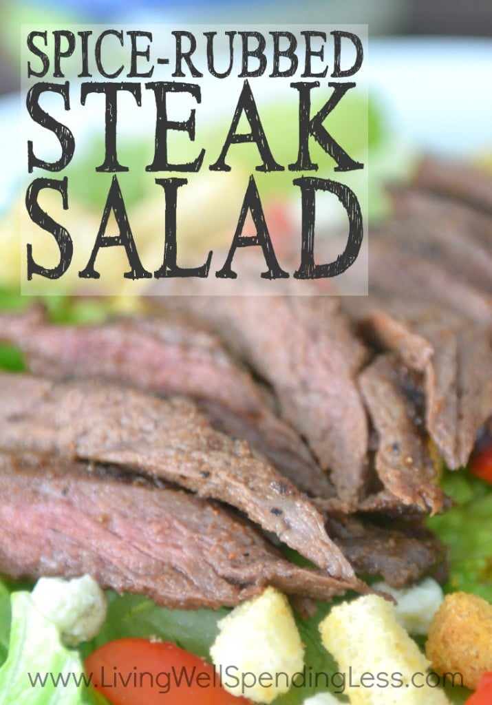Spice Rubbed Steak Salad Vertical