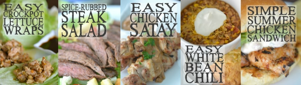 10 Meals in an Hour | Freezer Cooking | Freezer Meals | Main Course Meat | Simple Summer Chicken Sandwiches | Spice Rubbed Steak Salad | Easy Chicken Satay | Easy Crockpot Lettuce Wraps | Easy White Bean Chili