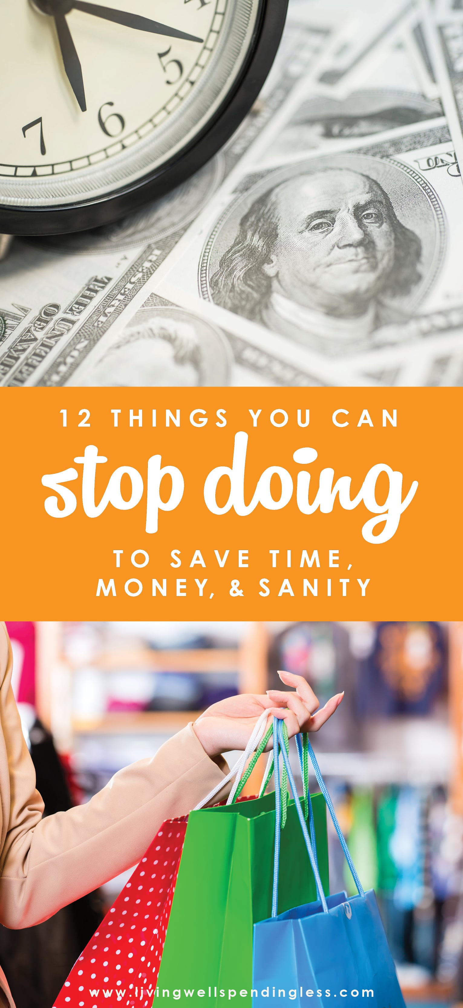 We often spend a lot of time talking about the things we should do to save time & money, but have you ever given any thought to what things NOT to do?  These are the 12 things I DON'T do to save time, money, & sanity--what are yours?   12 Things NOT to Do to Save Time, Money & Sanity   Budgeting 101   Money Saving Tips   Time Management