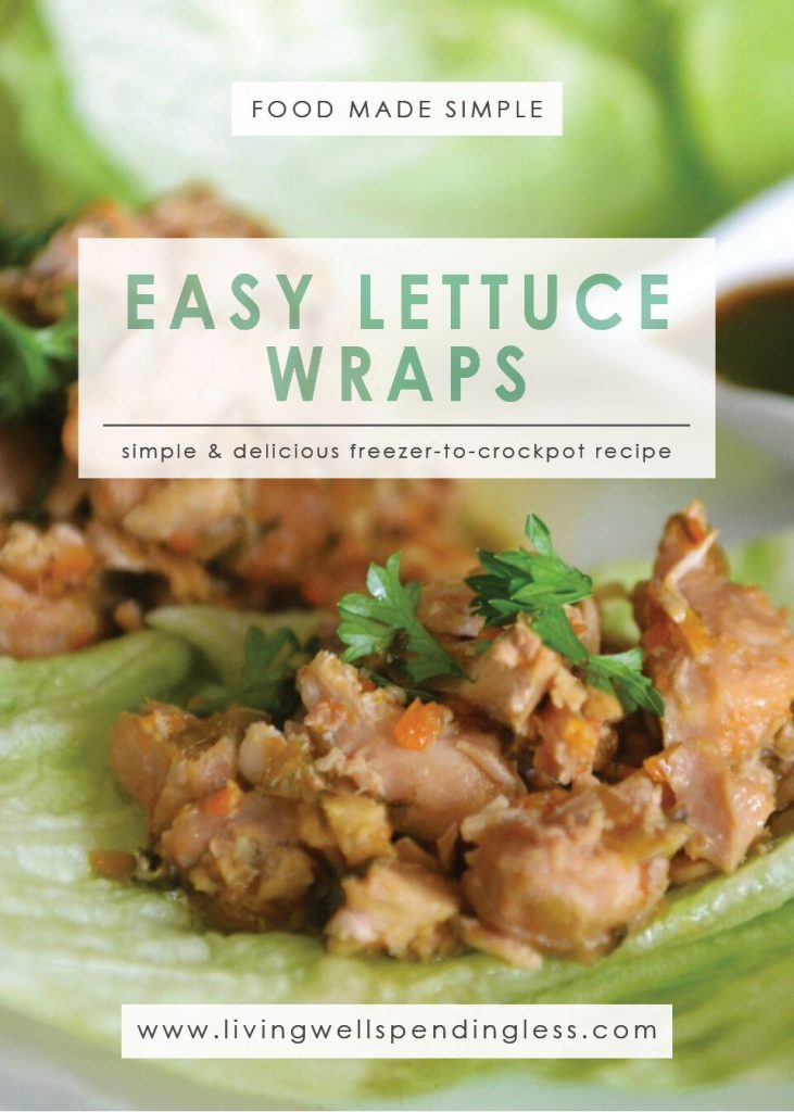 Easy Crockpot Lettuce Wraps   10 Meals in an Hour   Freezer Cooking   Main Course Meat