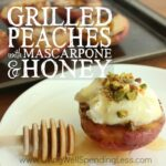 Grilled Peaches with Mascarpone & Honey Square