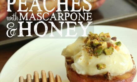 Grilled Peaches with Mascarpone & Honey