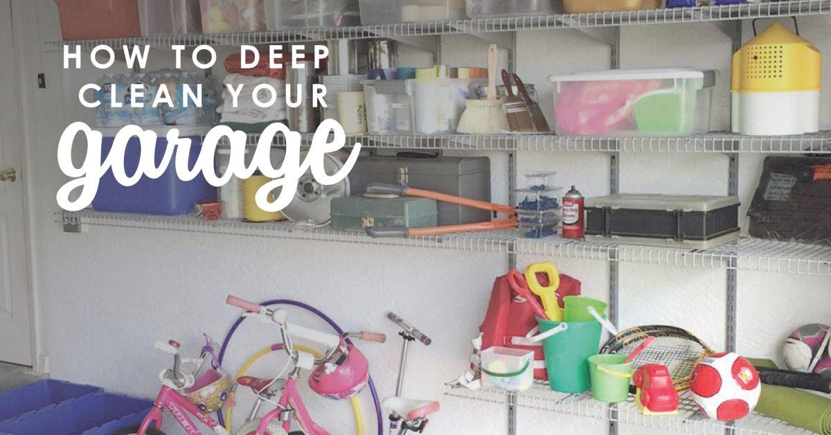 How to Deep Clean Your Garage | De-Cluttering Your Garage