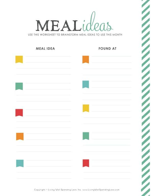 Plan Your Meals | 31 Days of Living Well & Spending Zero | EASY PANTRY STAPLE RECIPES