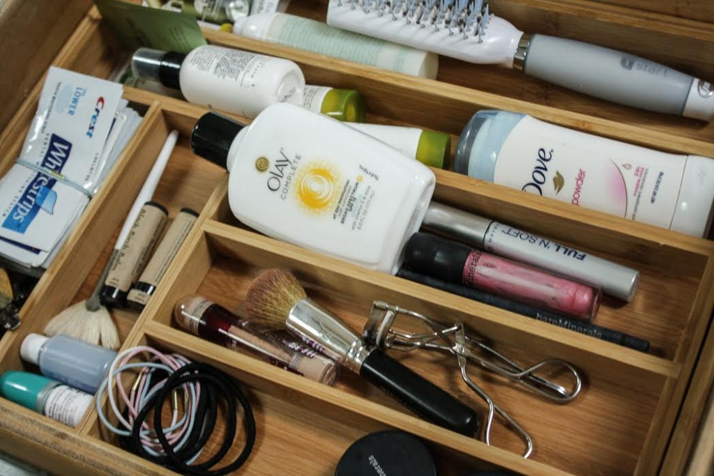 An organized makeup drawer is easier to handle. You can see what makeup you have and what you need.