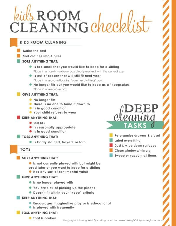 31 Days Of Living Well Spending Zero Day 10 Clean Your Kids 39 Rooms
