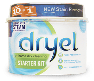 Dryel is a great at-home dry cleaner starting kit. It will save you some money on dry cleaning bills.