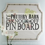 Pottery Barn Knock Off Pin Board Square 1