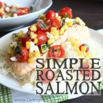 Simple Roasted Salmon Square