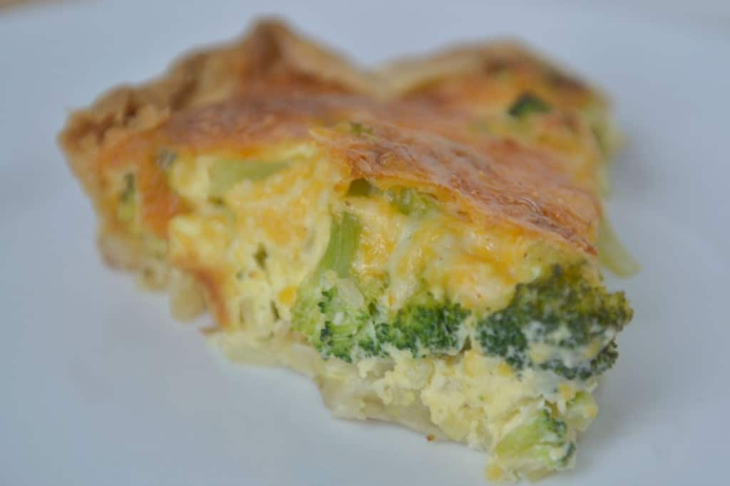 A delicious slice of vegetable quiche makes a yummy lunch or dinner for everyone in your family.