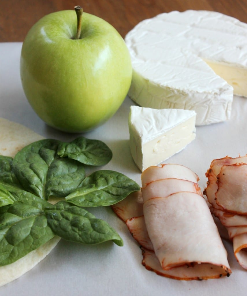 Turkey Apple Brie Quesadilla ingredients