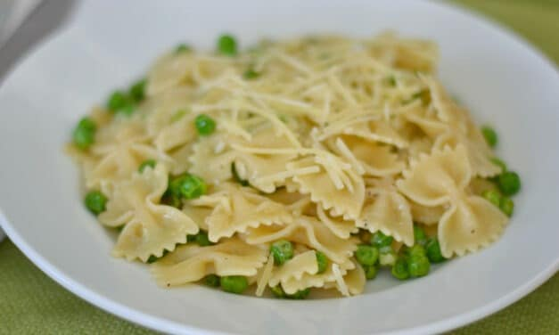 Browned Butter Pasta with Peas