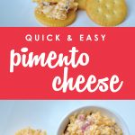 Equally delicious served on a cracker or topping a burger, this super easy Pimento Cheese comes together in minutes with just a handful of ingredients. Find out what all the fuss is about with this can't-miss classic Southern recipe!