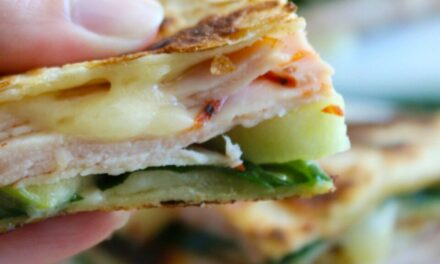 Turkey, Apple & Brie Quesadilla