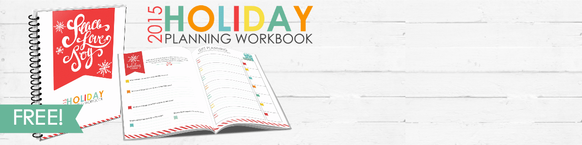 Holiday Planning Workbook Slider