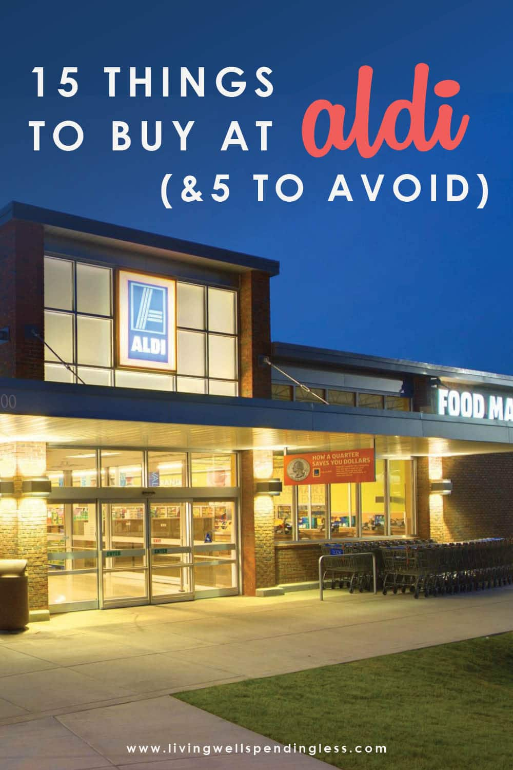 Did you know shopping at ALDI can cut your grocery bill in HALF without needing to clip a single coupon? Get the full scoop on exactly which items are a STEAL at this budget-friendly store (as well as which items you should probably avoid.) This can't-miss post on Aldi Deals also includes some great pointers for a few things you should know before you go! (Fair warning--it's long!)