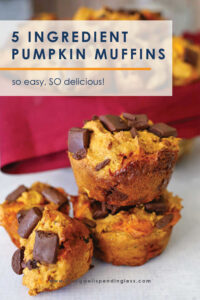 Craving big fall flavor without much effort? These ridiculously easy Pumpkin Muffins come together in minutes using just FIVE basic ingredients. Seriously--they could not be any simpler....or more delicious! #recipes #pumpkinrecipes #fallrecipes #pumpkinspice #pumpkinmuffins #muffinrecipes #5ingredientrecipes