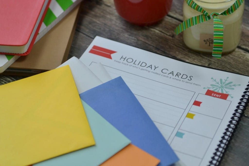 Don't stress over holiday cards, the LWSL holiday planner will keep you on track