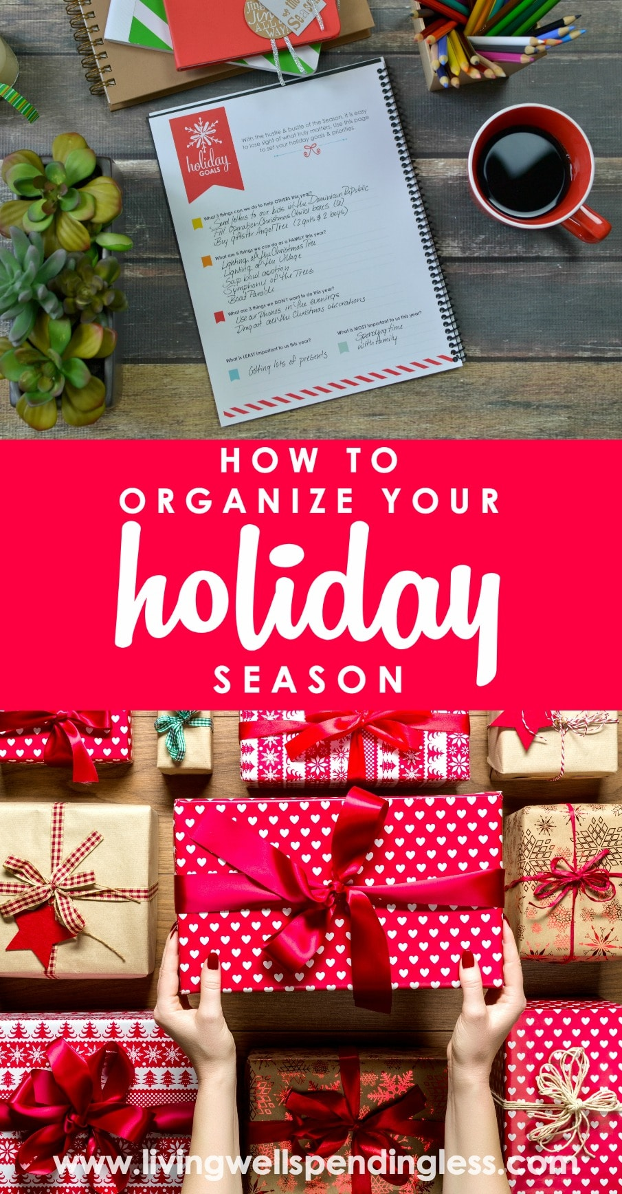 How to Organize Your Holiday Season | How to Get Organized for the Holidays | Living Well Spending Less Holiday Planner