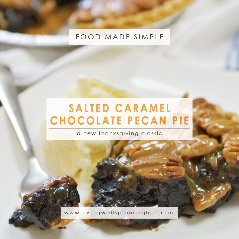 Salted Caramel-Chocolate Pecan Pie Recipe | Dessert Recipes | Pie Recipes