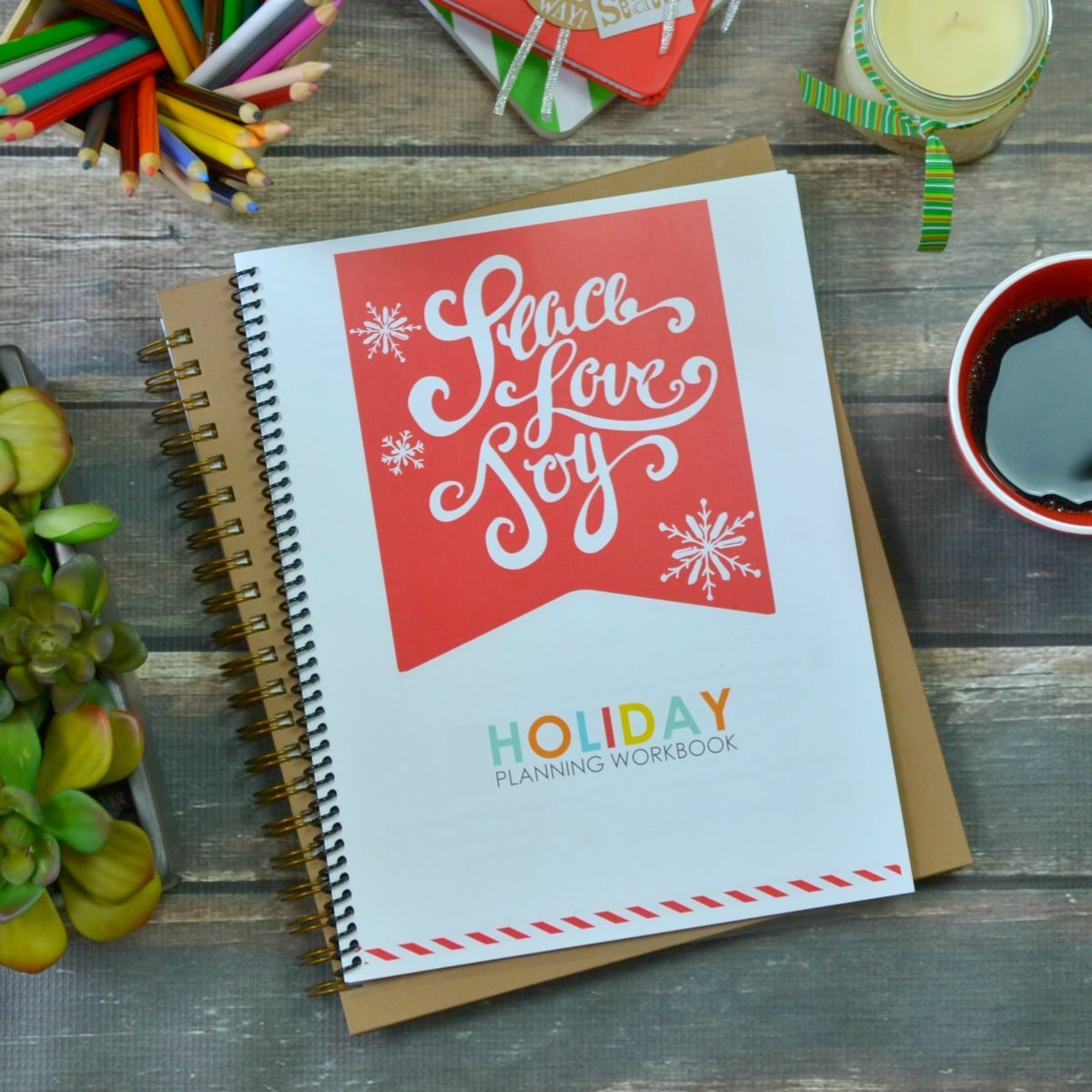 The Living Well Holiday planner is the perfect way to get organized for the holidays
