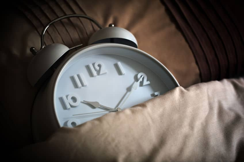 Stick to a schedule to improve your sleeping habits.